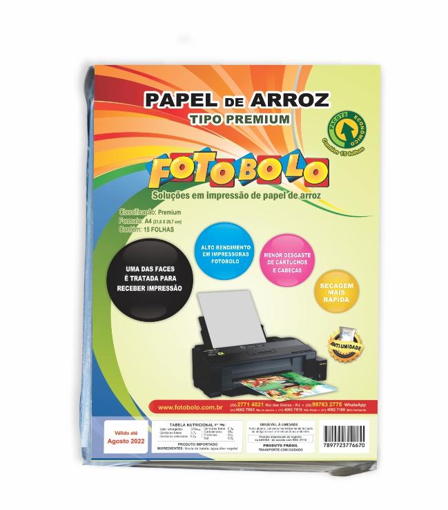Papel Arroz Premium A4 - Embalado a Vácuo -15 folhas