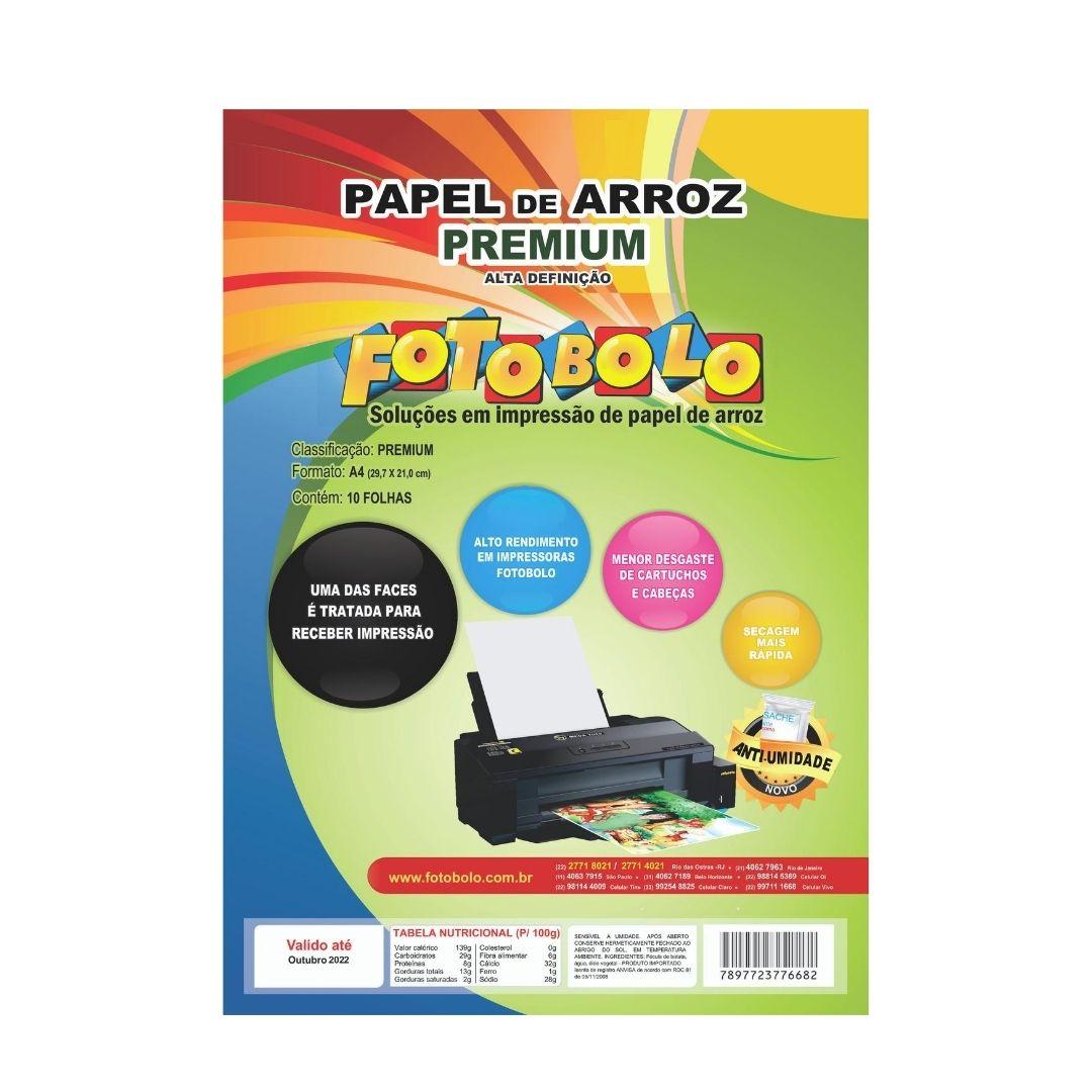 Papel Arroz Premium A4-pct C/ 10 Folhas - Embalado À Vácuo