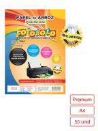Papel Arroz Tipo Premium Embalado a Vácuo- Tamanho A4 - 50 folhas