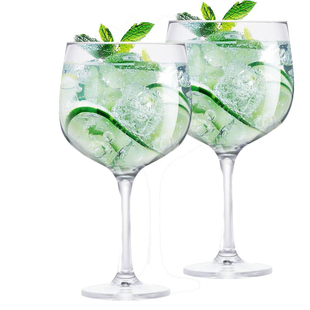 2 Taças Gin Vidro 650ml Ideal p/ Beefeater Tanqueray Bombay