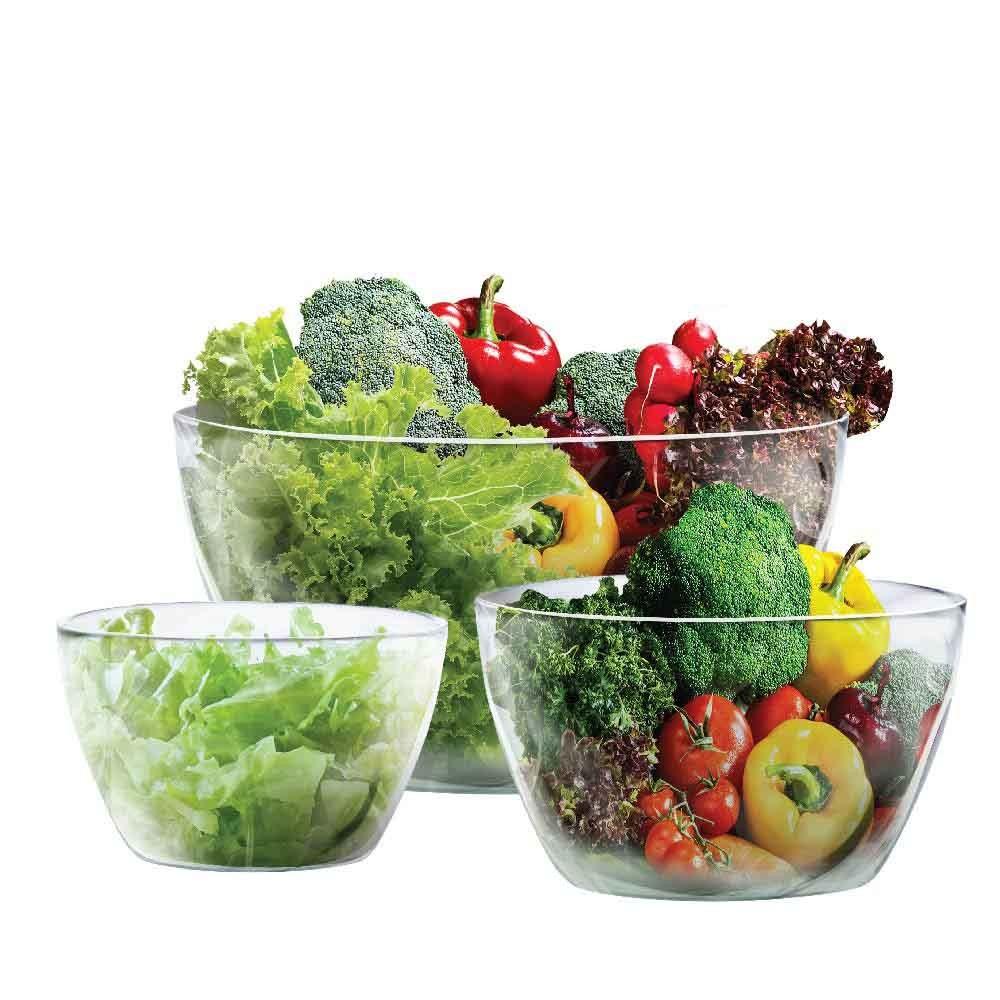 Conjunto de Saladeira - Fruteira Bowl Tropical 3 Pcs Ruvolo