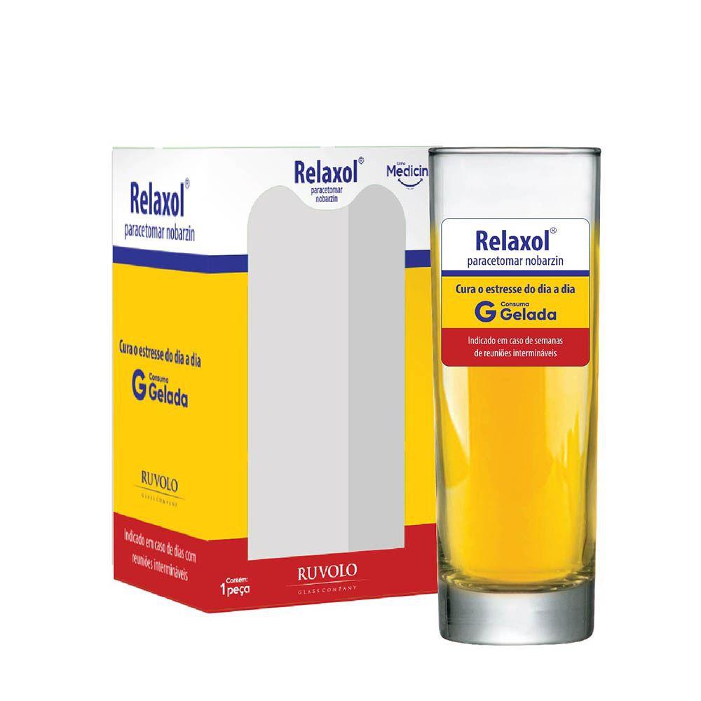 Copo de Água Frases Legais Medicine Relaxol Tubo 300ml