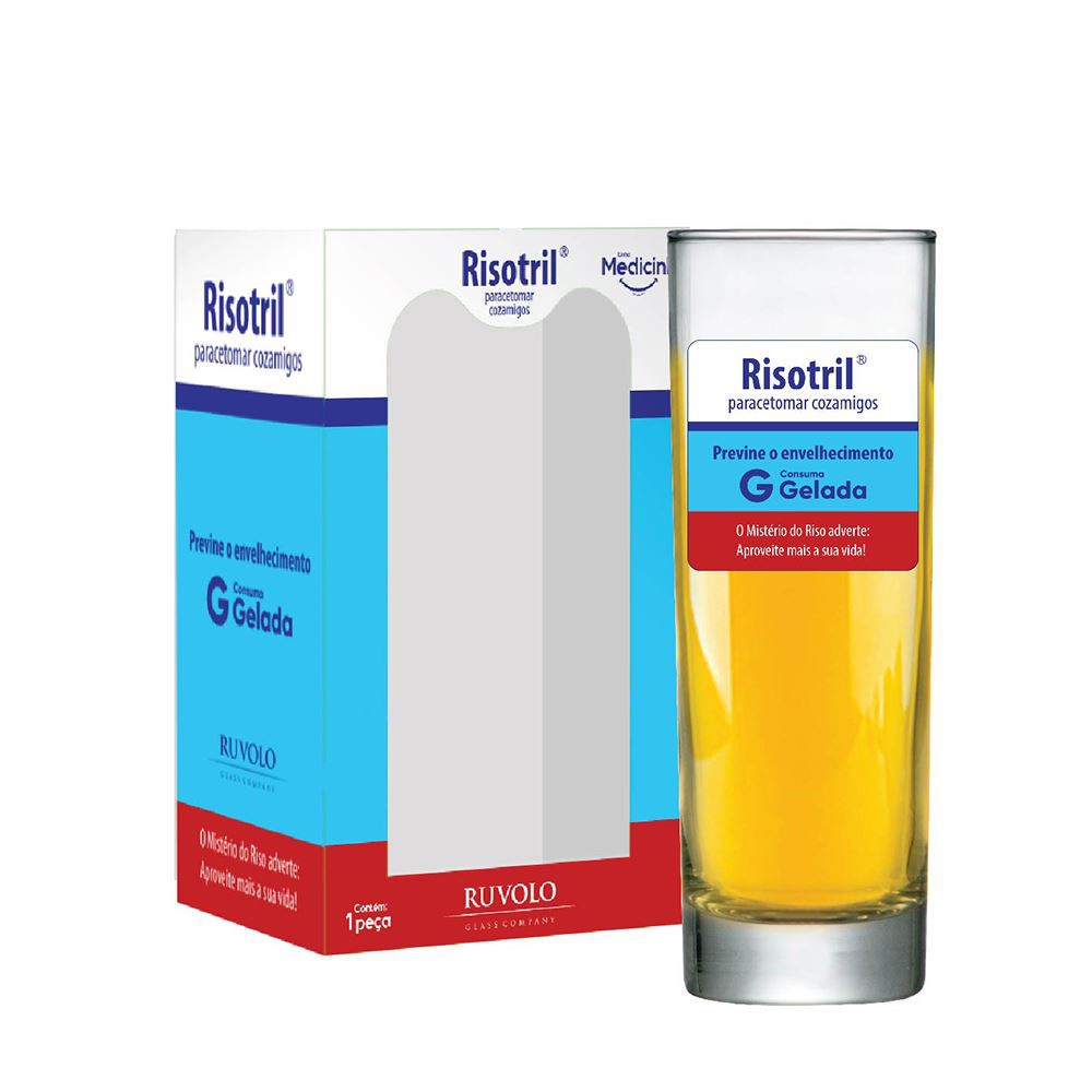 Copo de Água Frases Legais Medicine Risotril Tubo 300ml