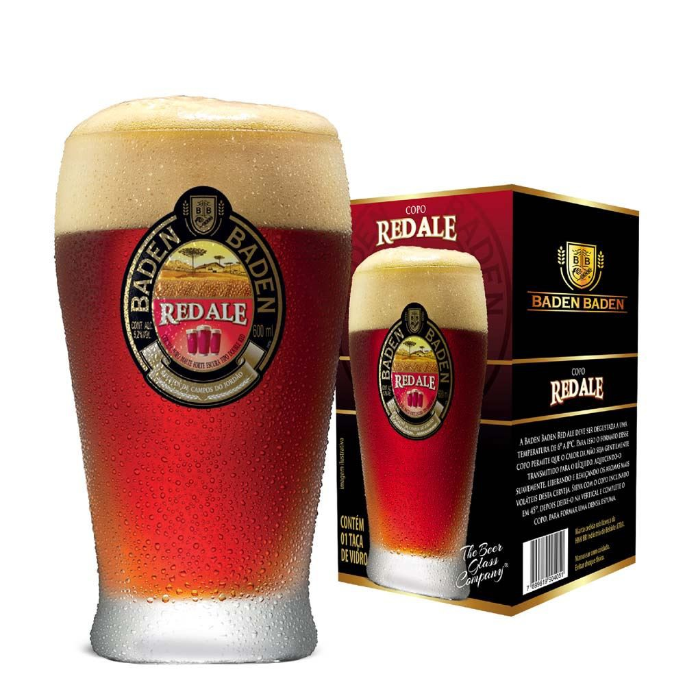 Copo de Cerveja Baden Baden Red Ale 425ml
