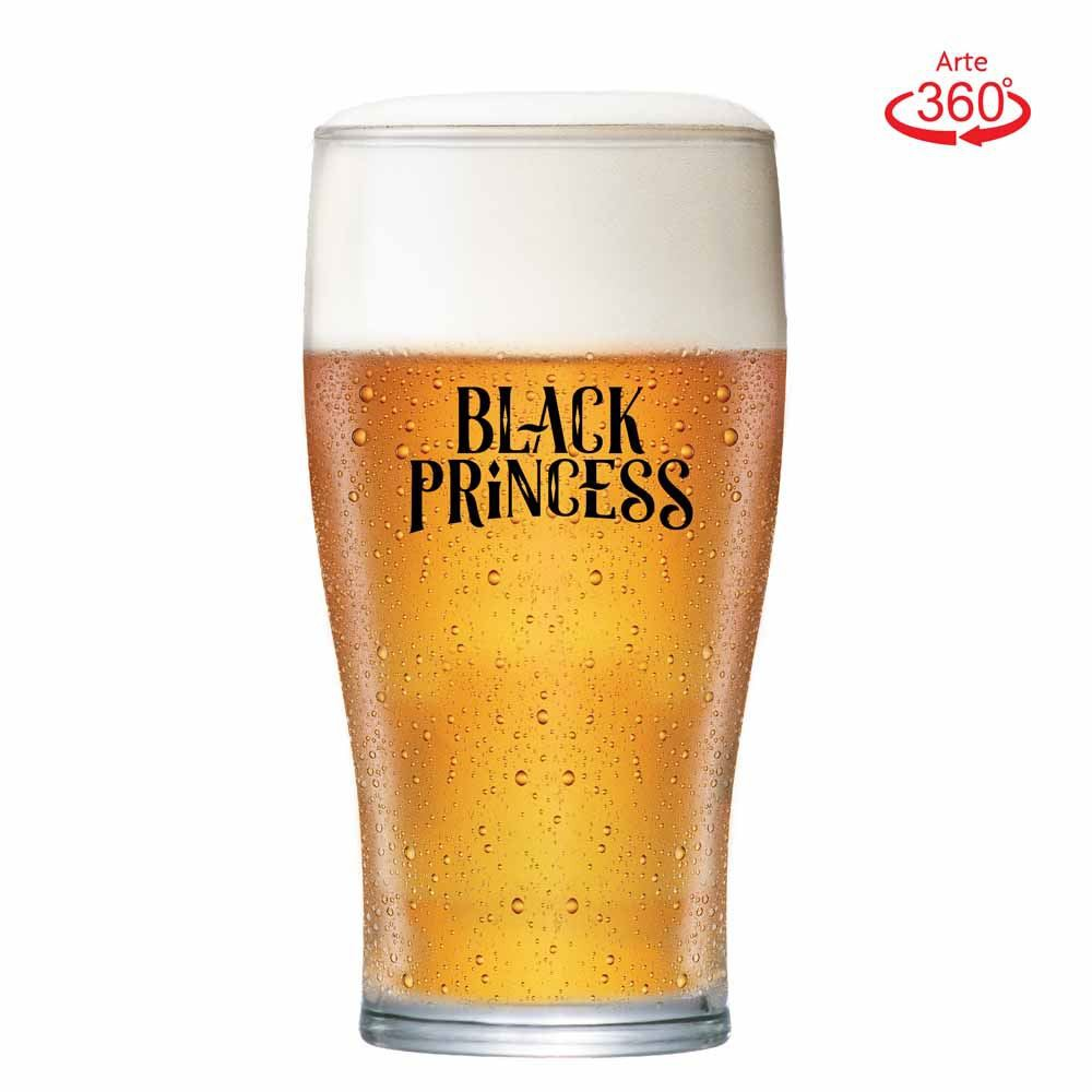 Copo de Cerveja Black Princess Blond Weiss Cristal 568ml