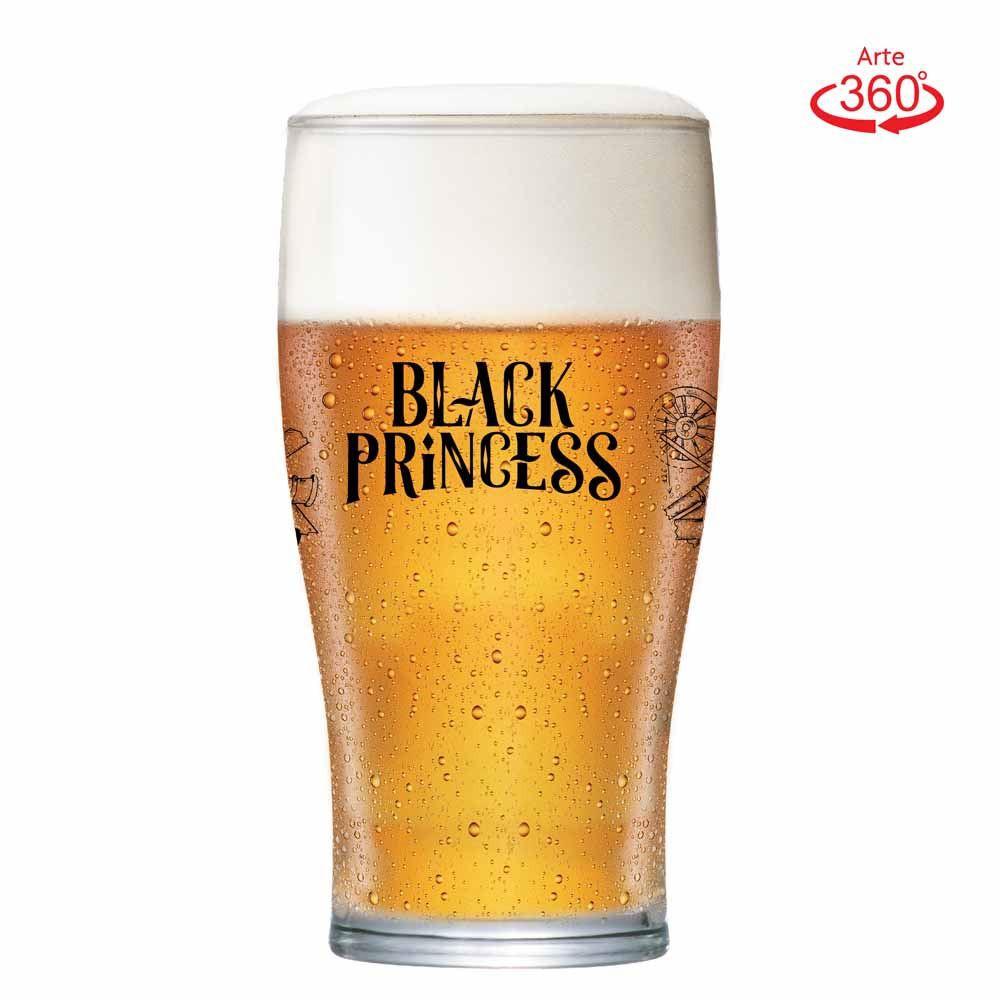 Copo de Cerveja Black Princess Gold Dark Cristal 568ml