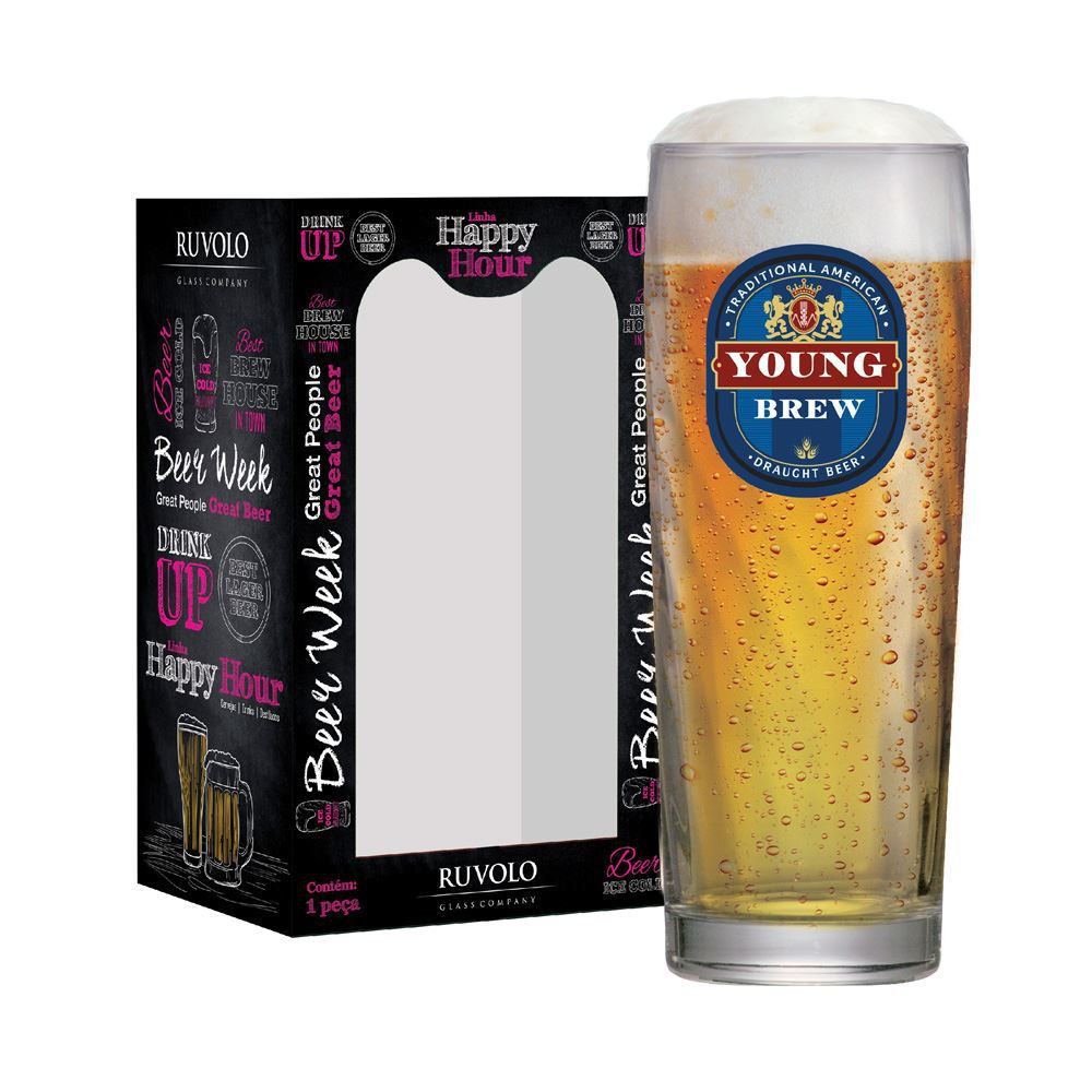Copo de Cerveja Frases Cerveja Rótulos Young Zurich 320ml