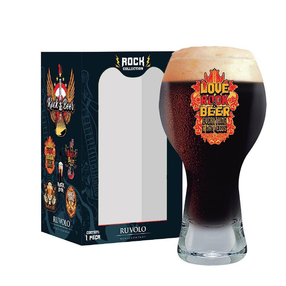 Copo de Cerveja Frases Rock Coll. Love Rock Black 380ml