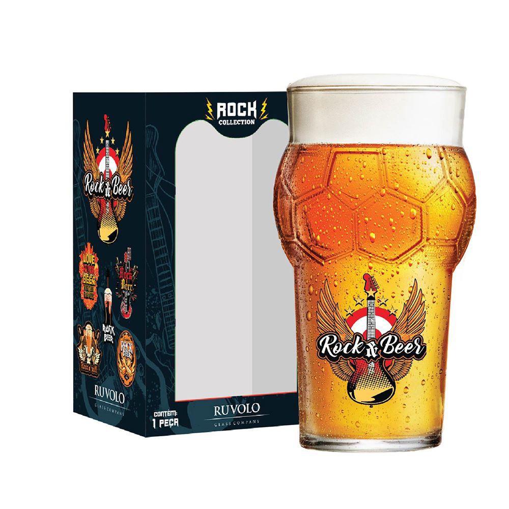 Copo de Cerveja Frases Rock Coll. Rock Beer Futebol 580ml