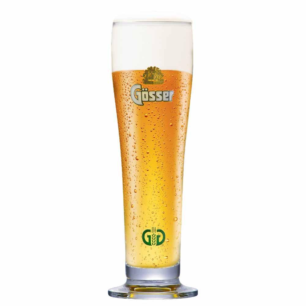 Copo de Cerveja Rótulo Frases Gosser Vidro 400ml