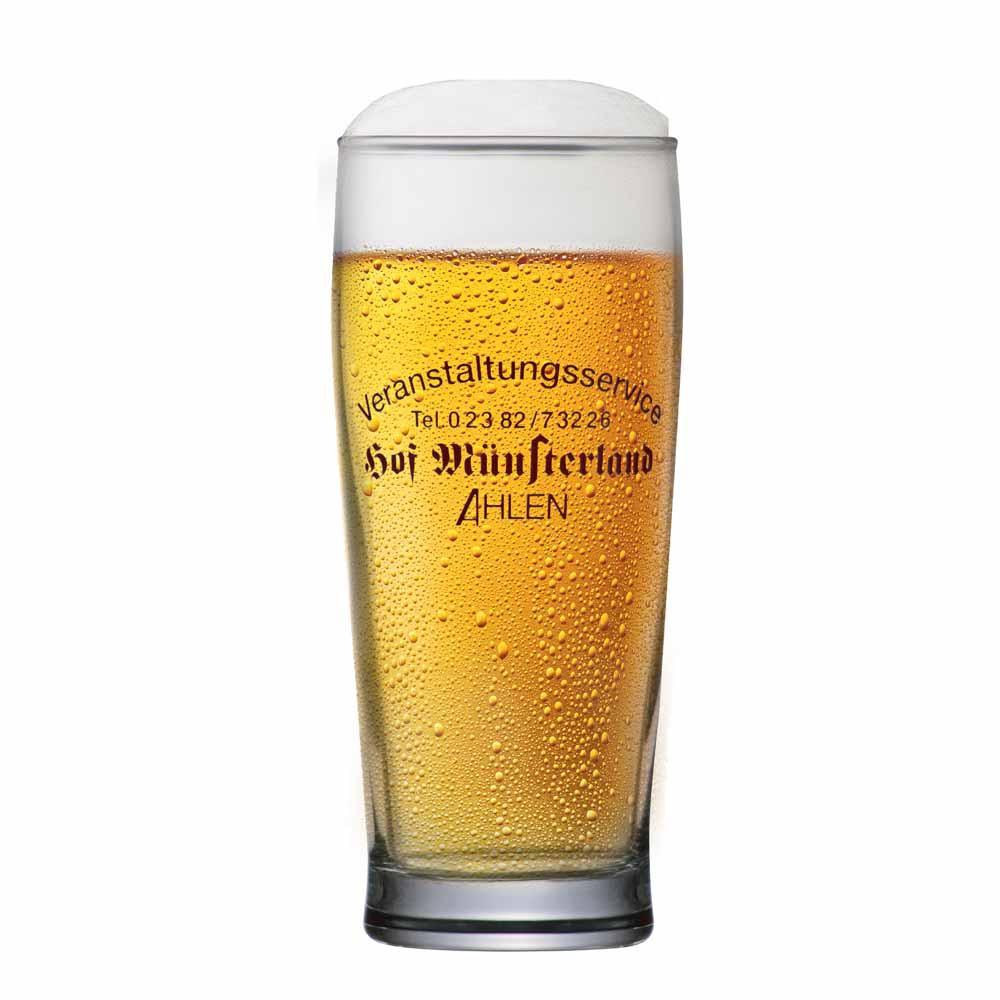 Copo de Cerveja Rótulo Frases Hof Munsterland Vidro 280ml