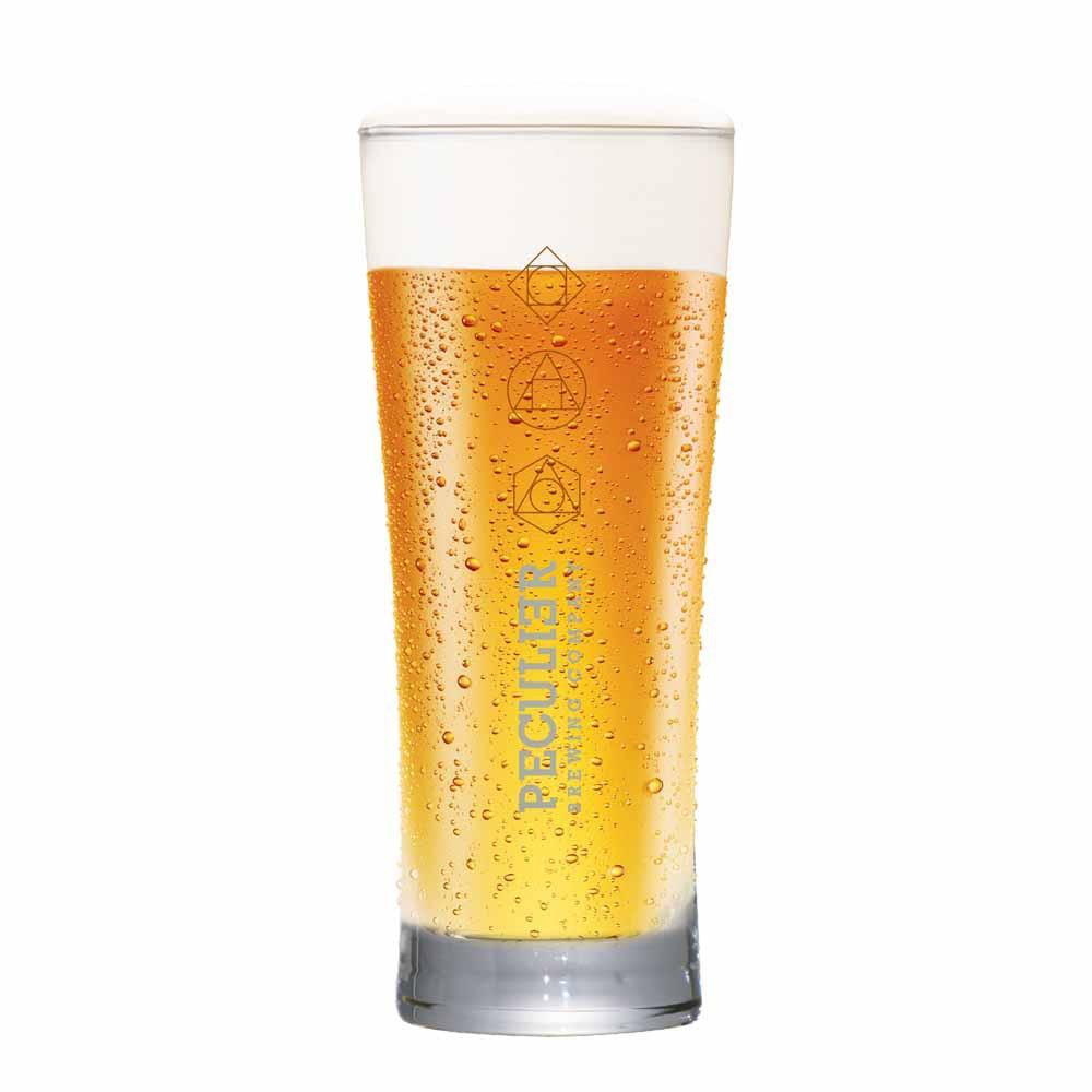 Copo de Cerveja Rótulo Frases Peculier Vidro 290ml