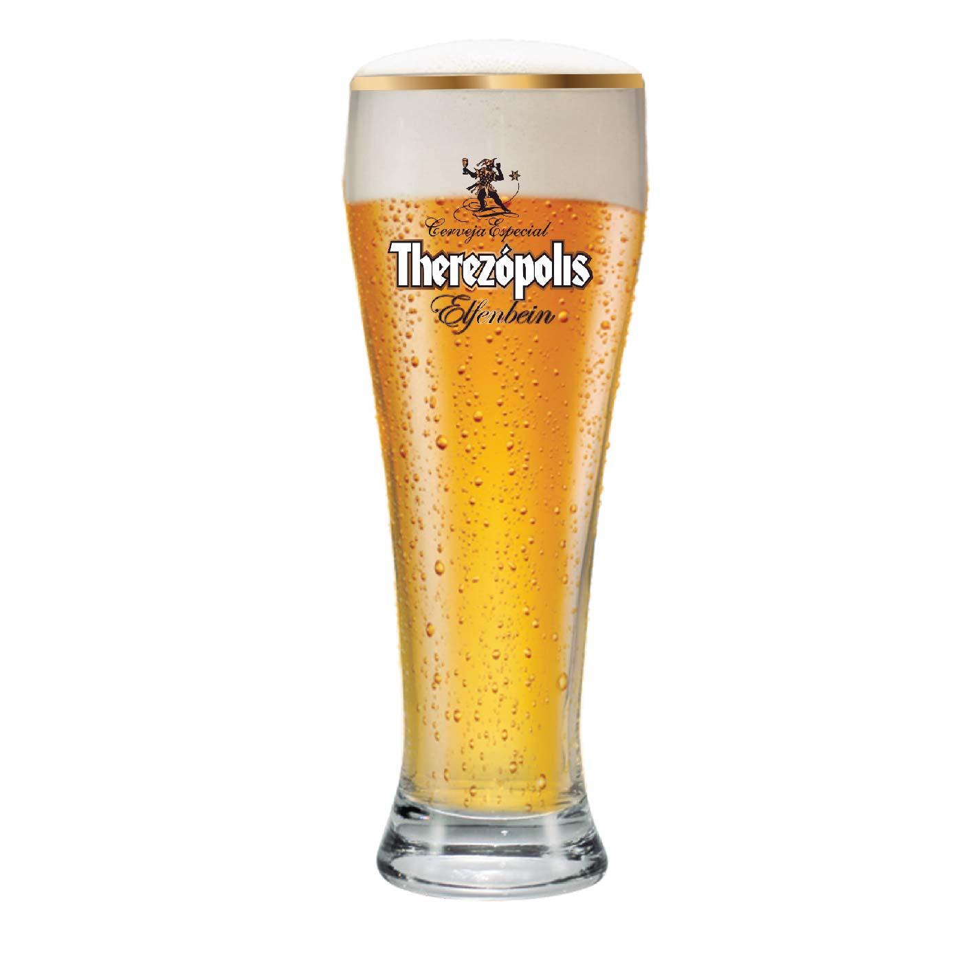 Copo de Cerveja Therezopolis Elfenbein Vidro 675ml