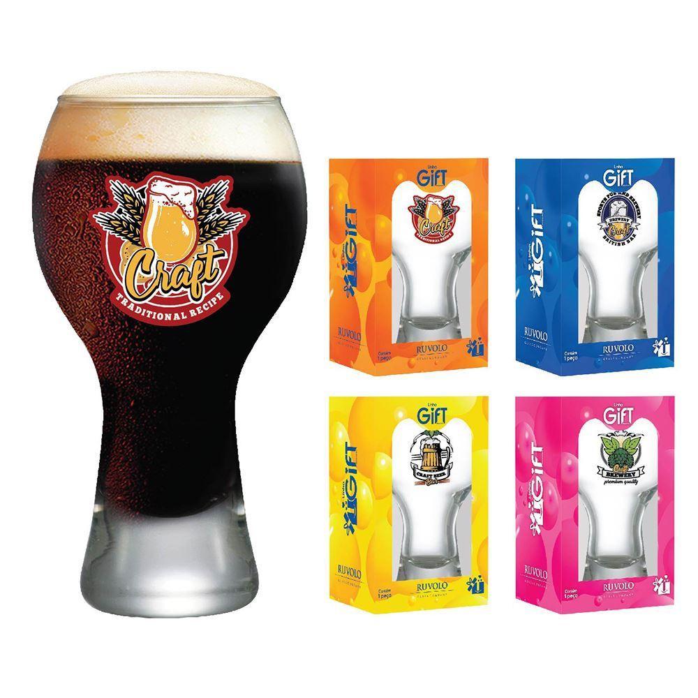 Copos de Cerveja Rótulos com Frases Coleção 4 Pcs Black M 670ml