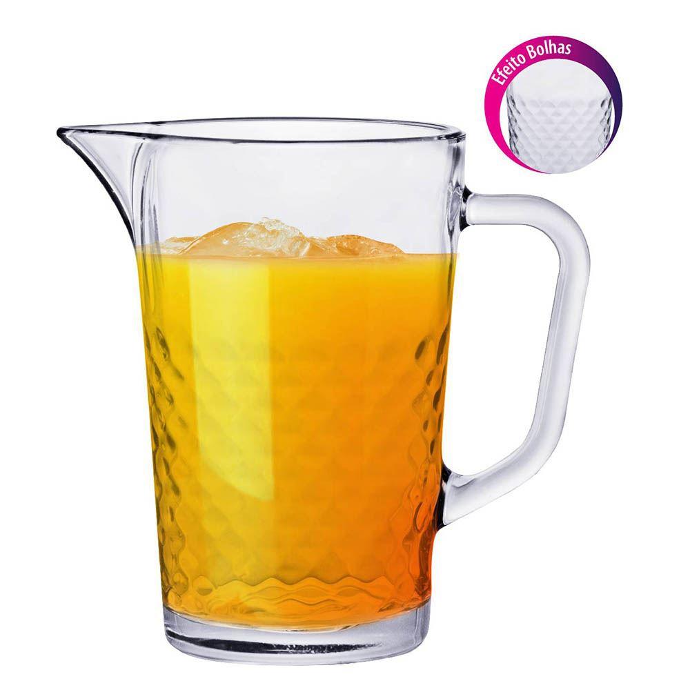 Jarra de Vidro para Água ou Suco Ruvolo Bubbles 1.2 Litros