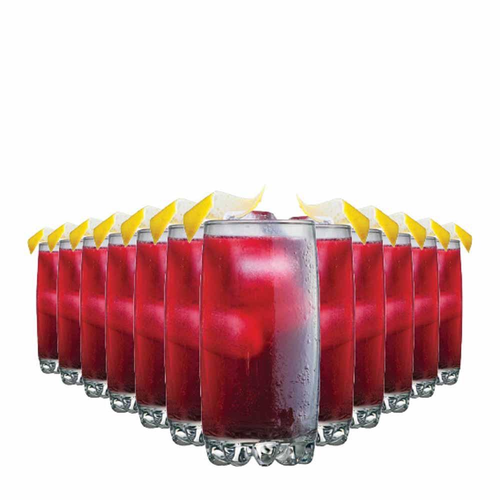 Jogo Copos Água Suco Riviera Long Drink Vidro 385ml 12 Pcs