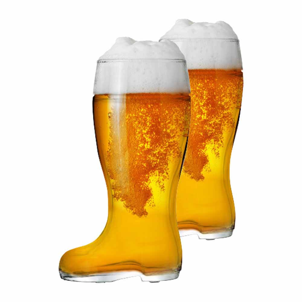 Jogo Copos Bota Cerveja Bota Stiefel G Vidro 1210ml 2 Pcs