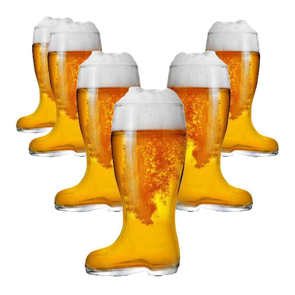 Jogo Copos Bota Cerveja Bota Stiefel G Vidro 1210ml 6 Pcs