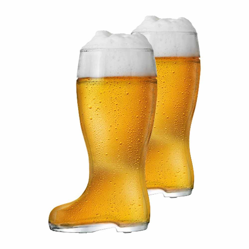 Jogo Copos Bota Cerveja Bota Stiefel M Vidro 620ml 2 Pcs