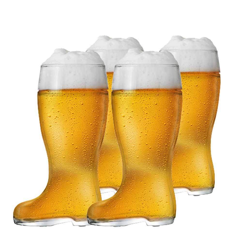 Jogo Copos Bota Cerveja Bota Stiefel M Vidro 620ml 4 Pcs