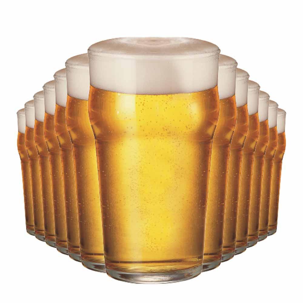 Jogo Copos Cerveja American Pint Vidro 500ml 12 Pcs