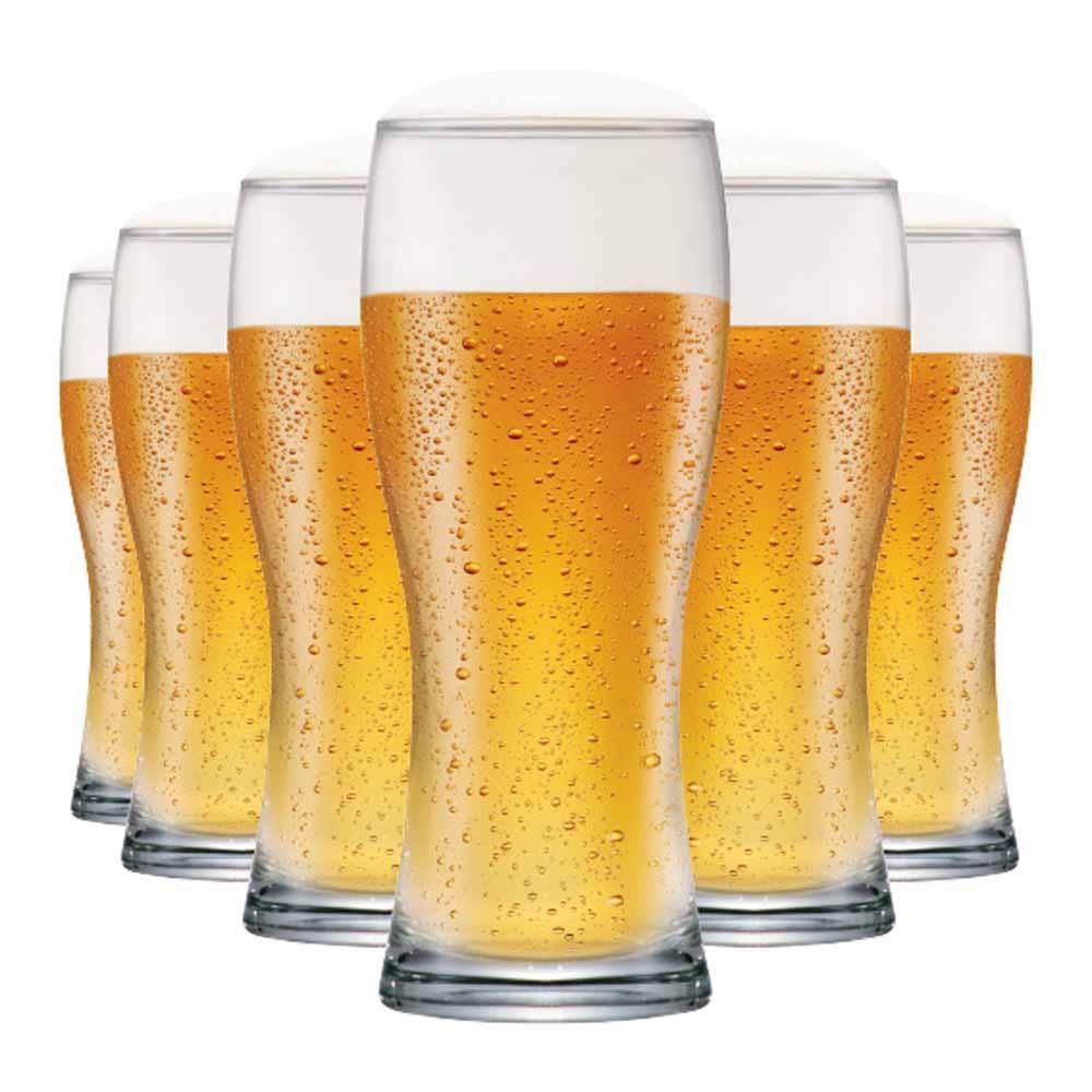 Jogo Copos Cerveja Bavaria Vidro 300ml 6 Pcs