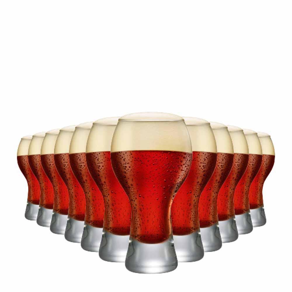 Jogo Copos Cerveja Black P Vidro 380ml 12 Pcs