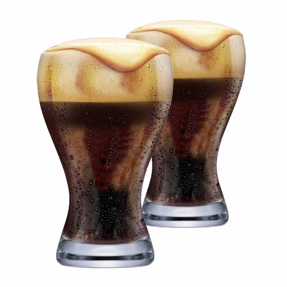 Jogo Copos Cerveja Black Premium Cristal 425ml 2 Pcs