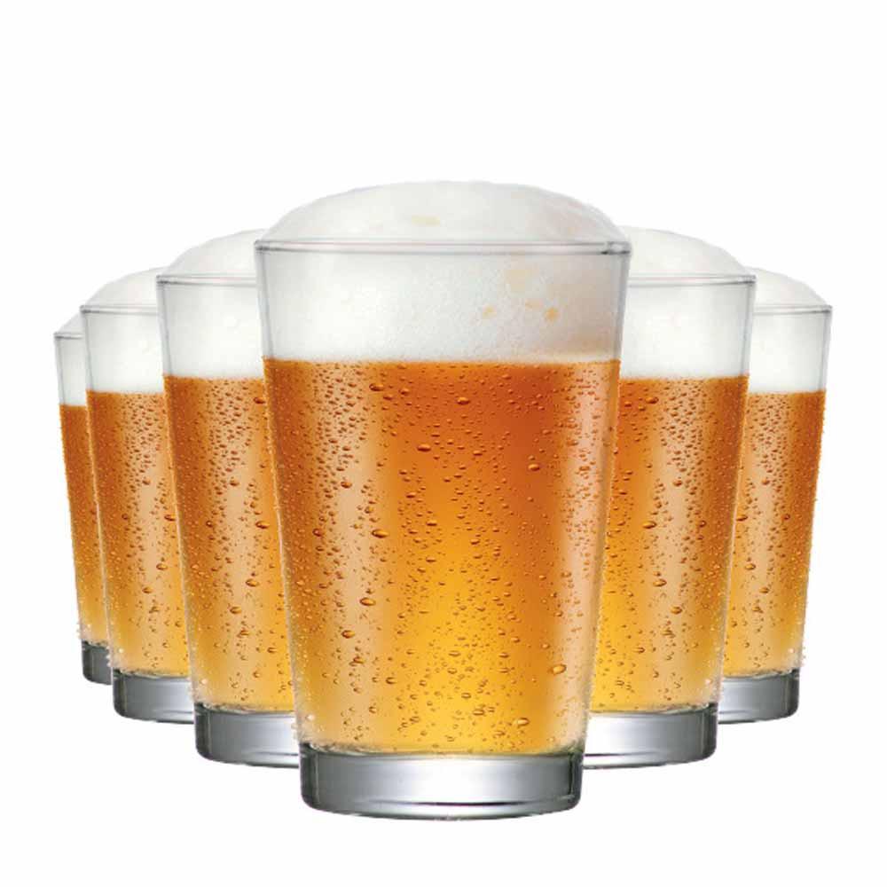 Jogo Copos Cerveja Caldereta Classico Vidro 325ml 6 Pcs