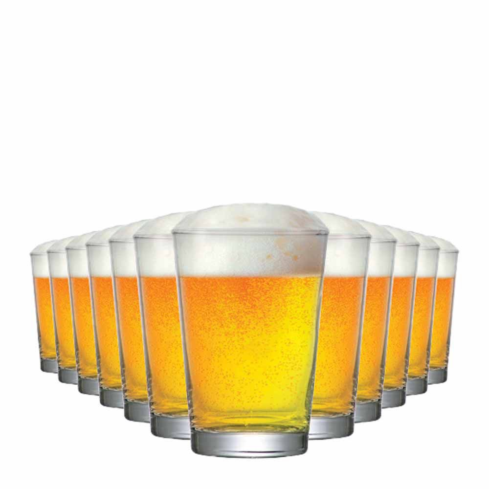 Jogo Copos Cerveja Caldereta P Vidro 300ml 12 Pcs