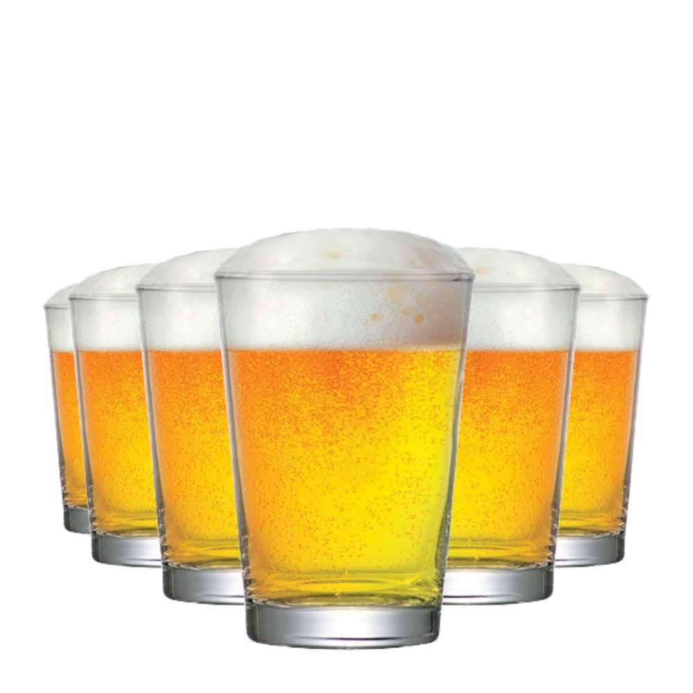 Jogo Copos Cerveja Caldereta P Vidro 300ml 6 Pcs