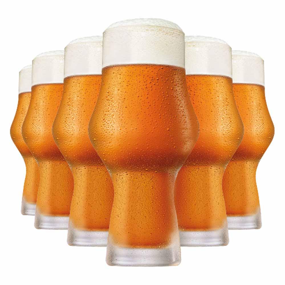 Jogo Copos Cerveja Craft Beer Cristal 495ml 6 Pcs