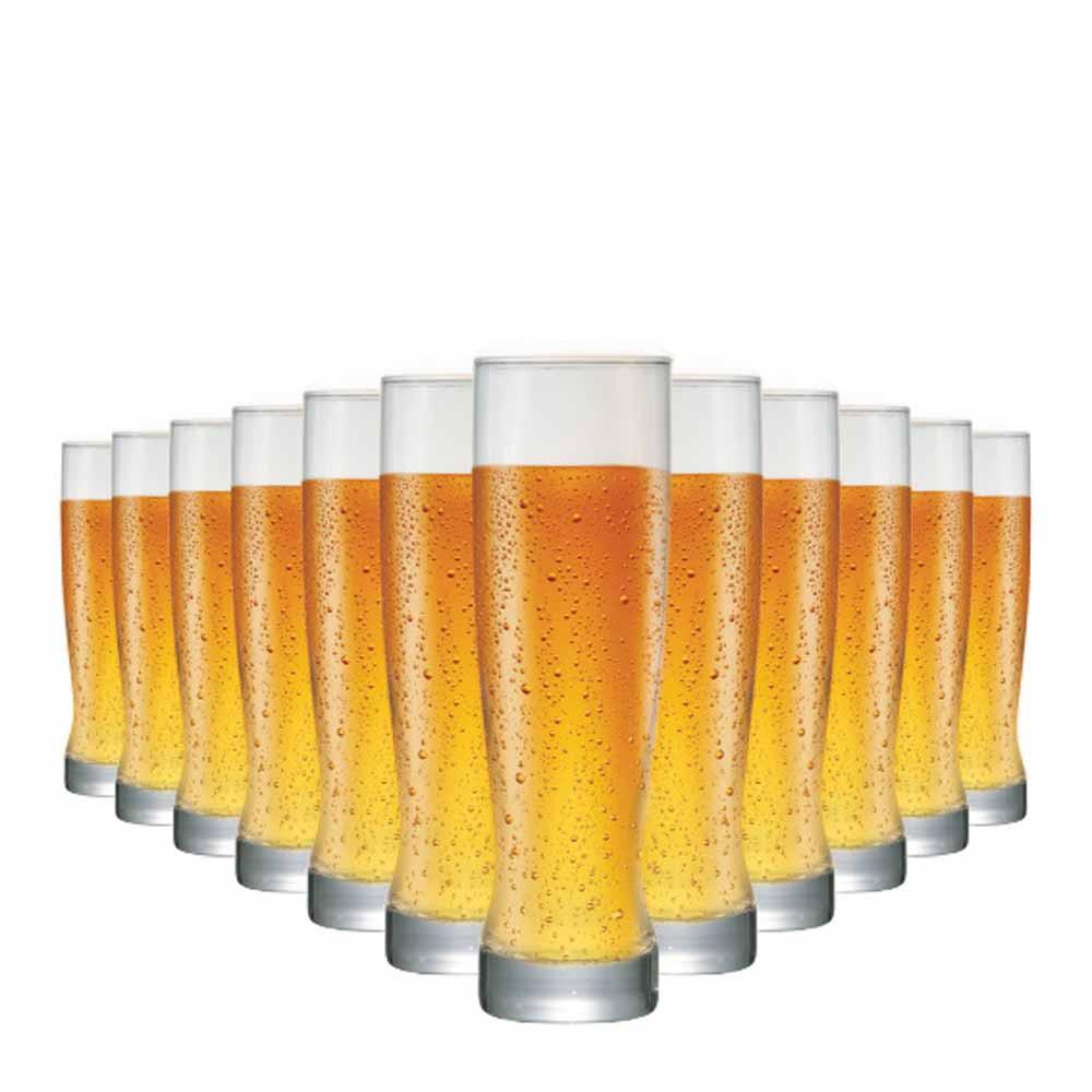 Jogo Copos Cerveja Genebra Vidro 400ml 12 Pcs
