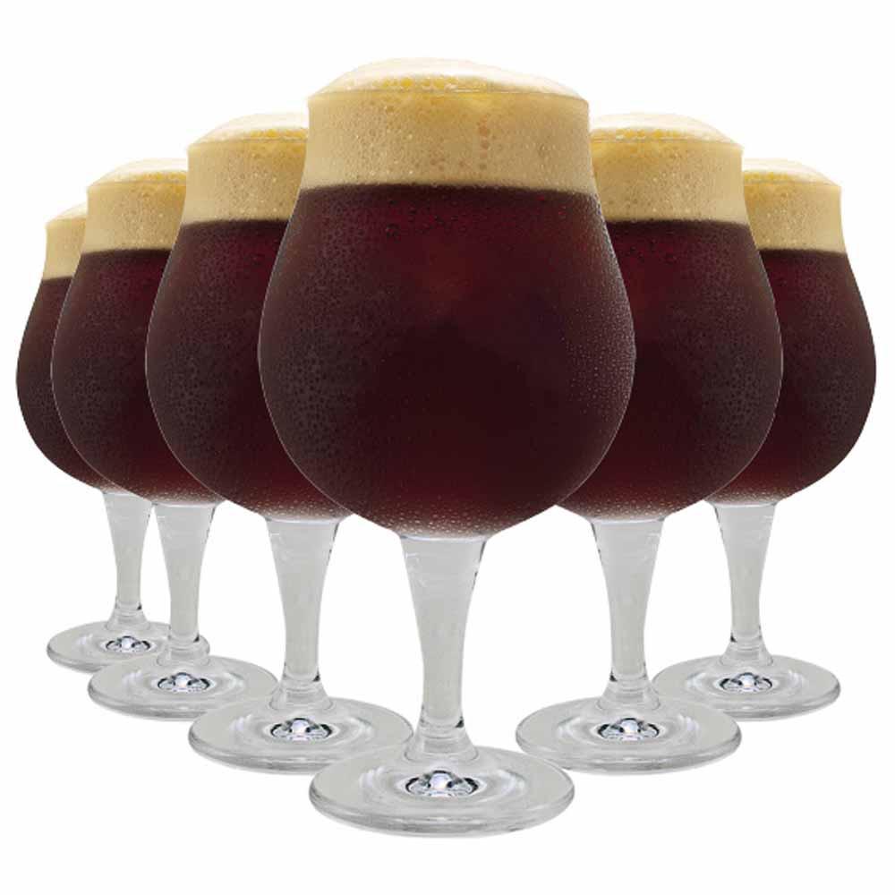 Jogo Copos Cerveja Mason G Cristal 660ml 6 Pcs