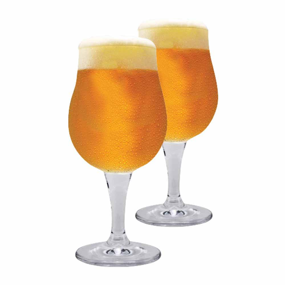 Jogo Copos Cerveja Mason M Cristal 390ml 2 Pcs