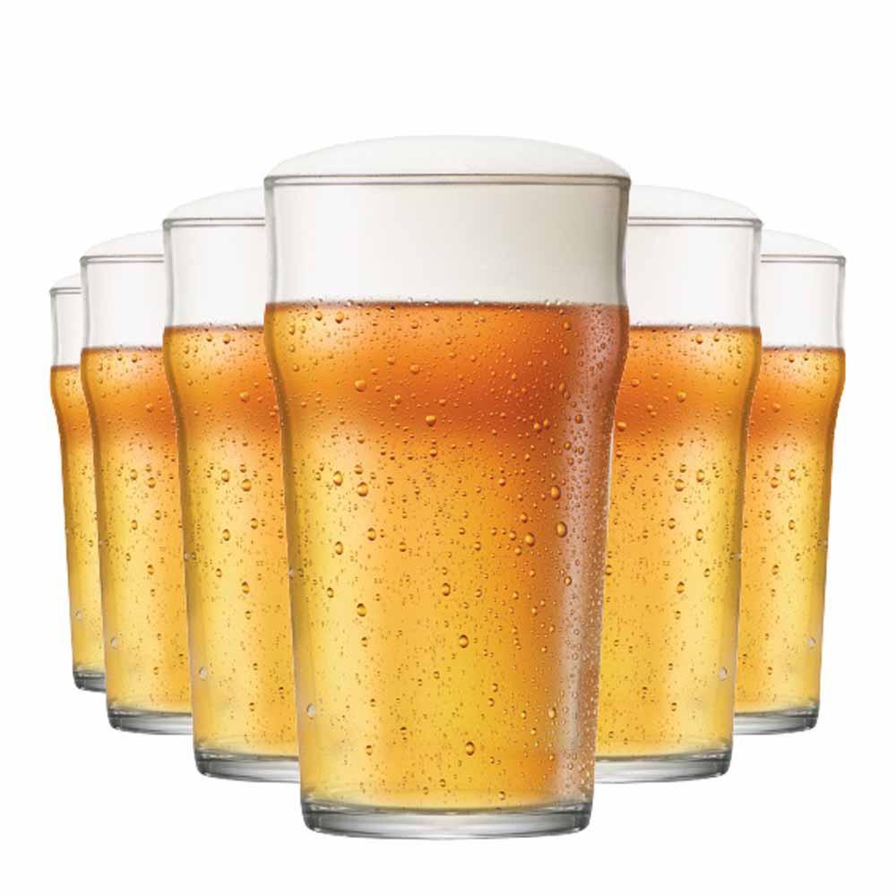 Jogo Copos Cerveja Nonic G Vidro 590ml 6 Pcs