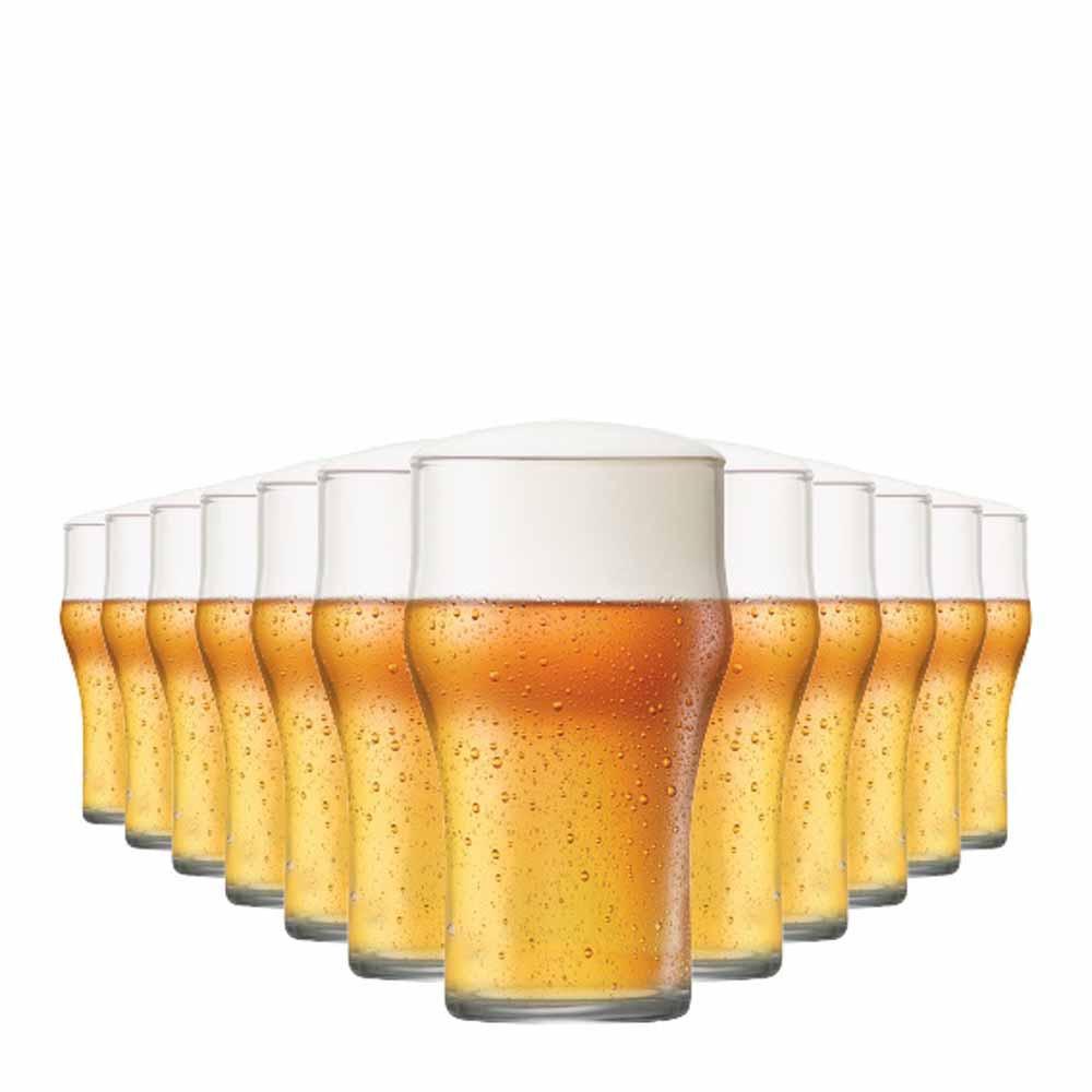Jogo Copos Cerveja Nonic M Vidro 350ml 12 Pcs