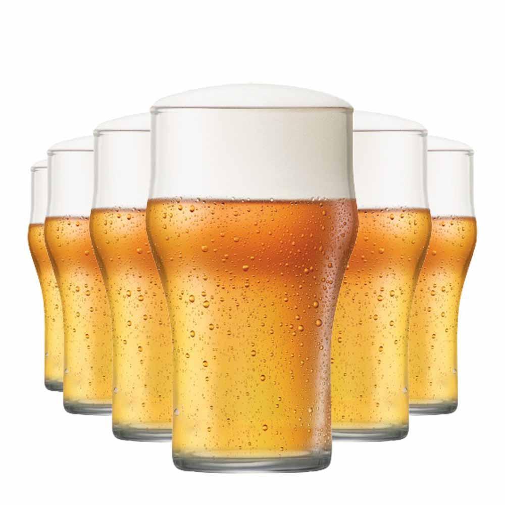 Jogo Copos Cerveja Nonic M Vidro 350ml 6 Pcs