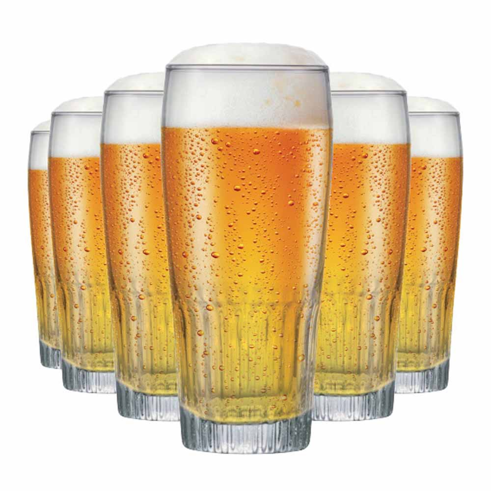 Jogo Copos Cerveja Paloma G Vidro 390ml 6 Pcs