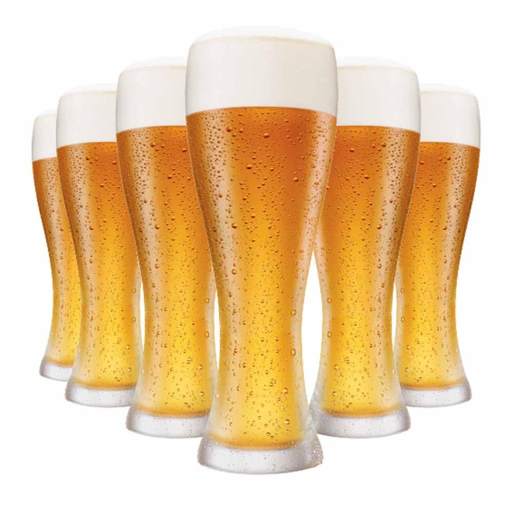 Jogo Copos Cerveja Pantheon G Vidro 680ml 6 Pcs