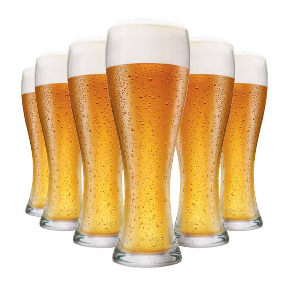 Jogo Copos Cerveja Pantheon M Vidro 400ml 6 Pcs