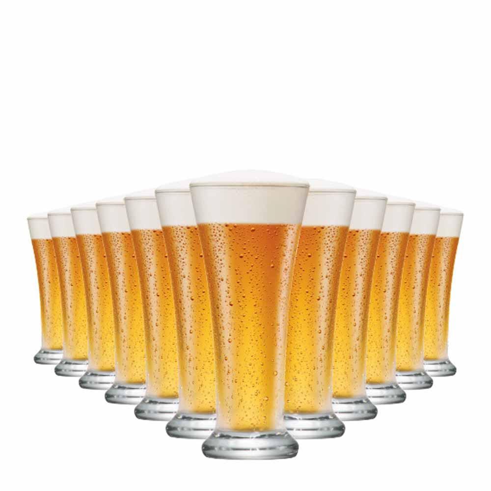 Jogo Copos Cerveja Pilsen Vidro 275ml 12 Pcs