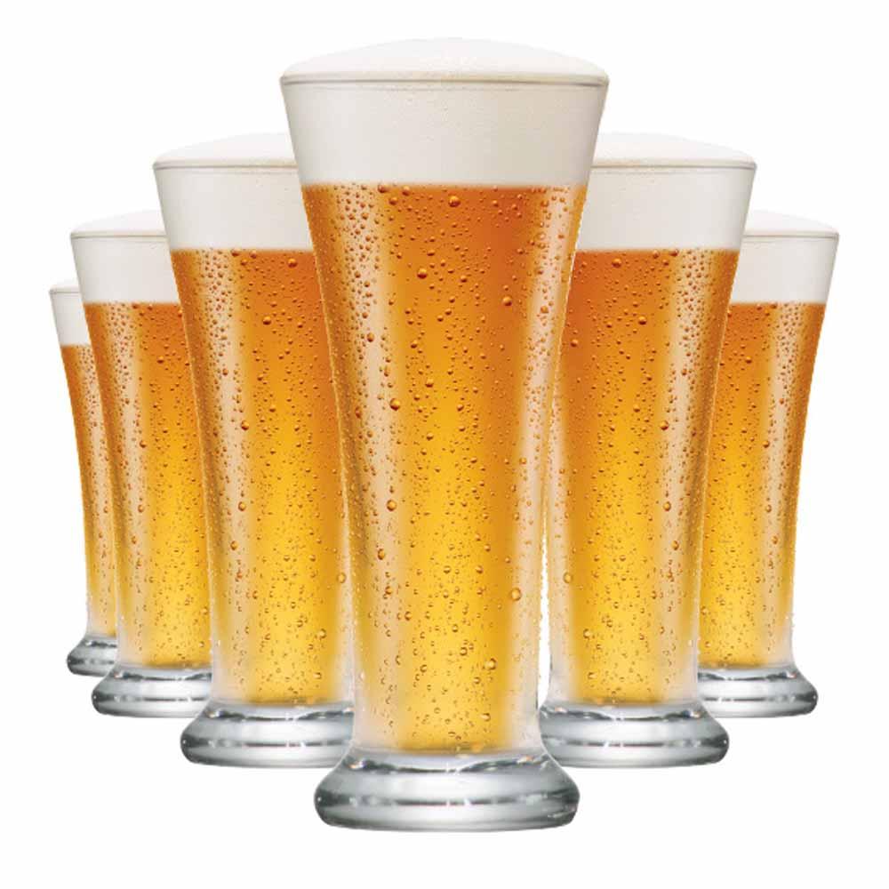 Jogo Copos Cerveja Pilsen Vidro 275ml 6 Pcs