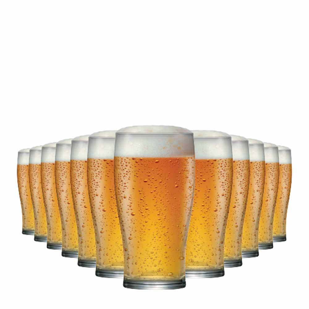 Jogo Copos Cerveja Pint Vidro 590ml 12 Pcs