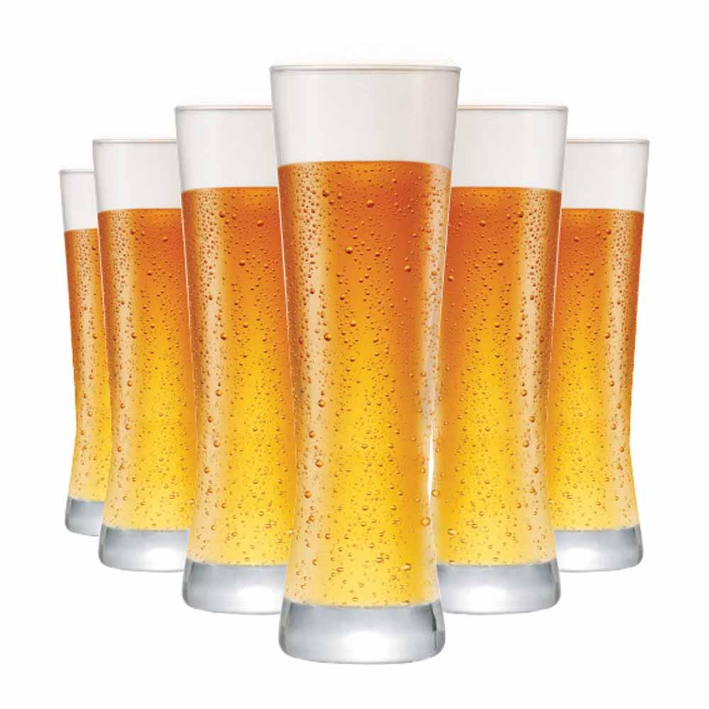Jogo Copos Cerveja Polite Vidro 280ml 6 Pcs