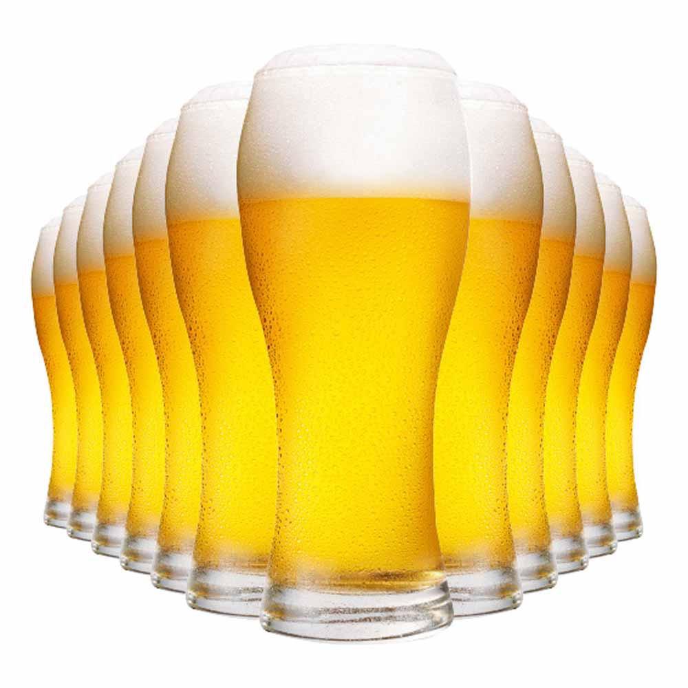 Jogo Copos Cerveja Praga Vidro 670ml 12 Pcs