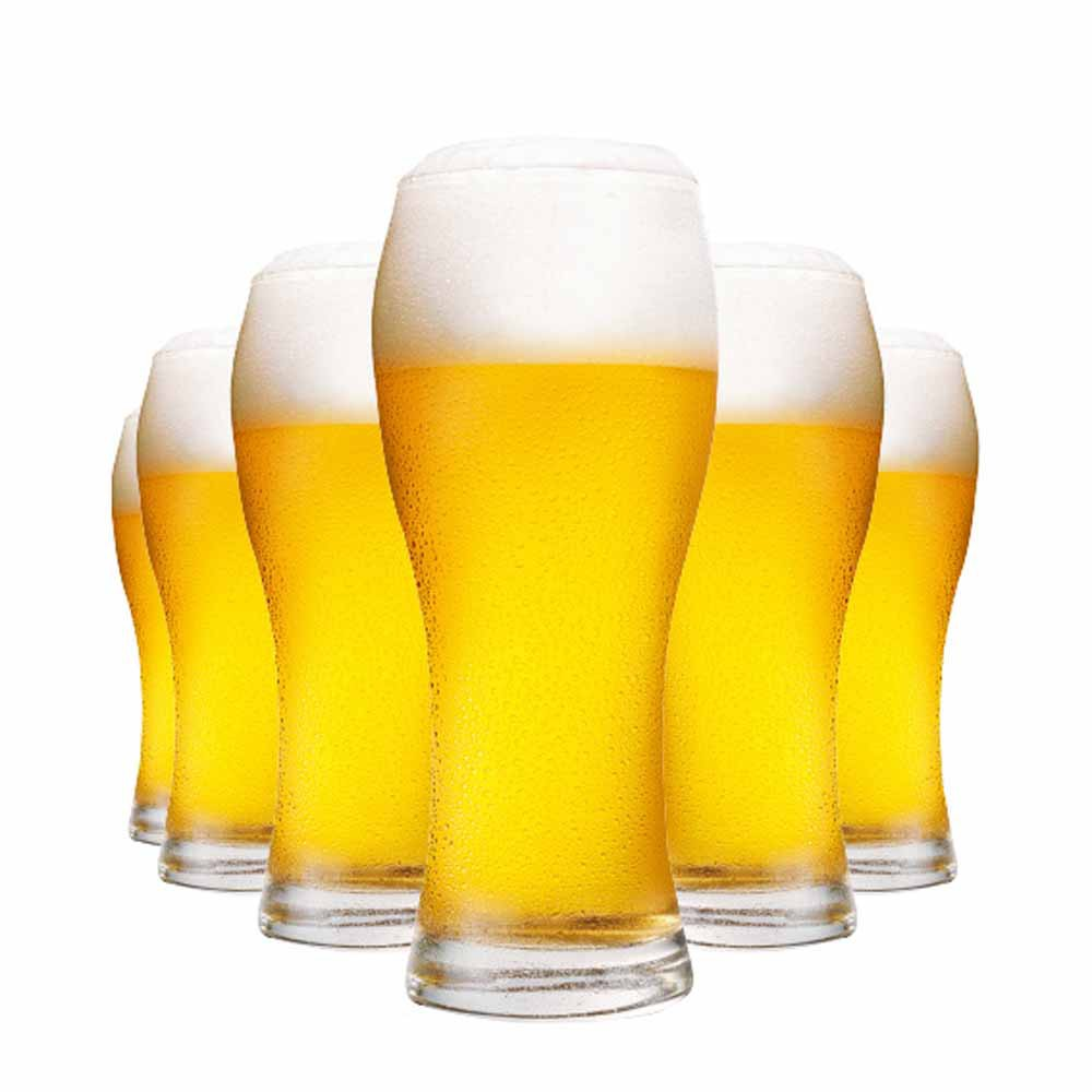 Jogo Copos Cerveja Praga Vidro 670ml 6 Pcs