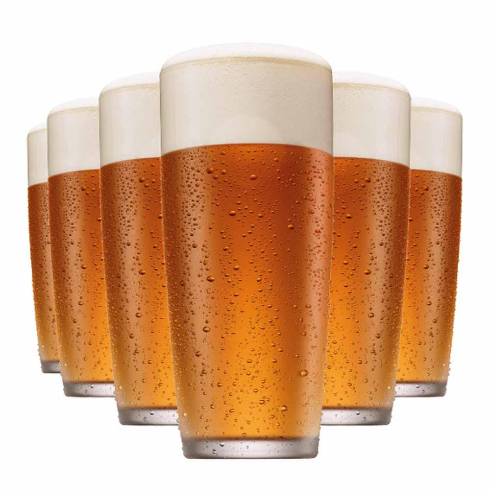 Jogo Copos Cerveja Prime M Vidro 320ml 6 Pcs