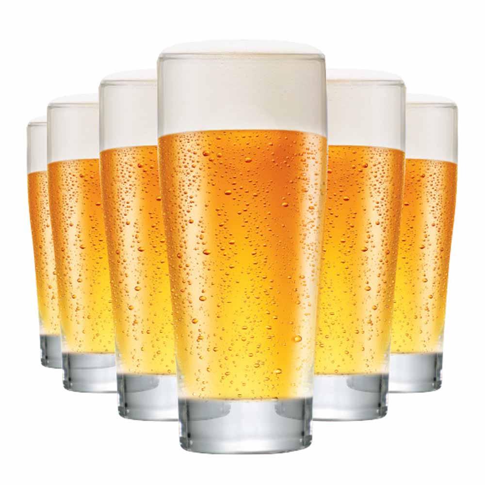 Jogo Copos Cerveja Prime P Vidro 220ml 6 Pcs