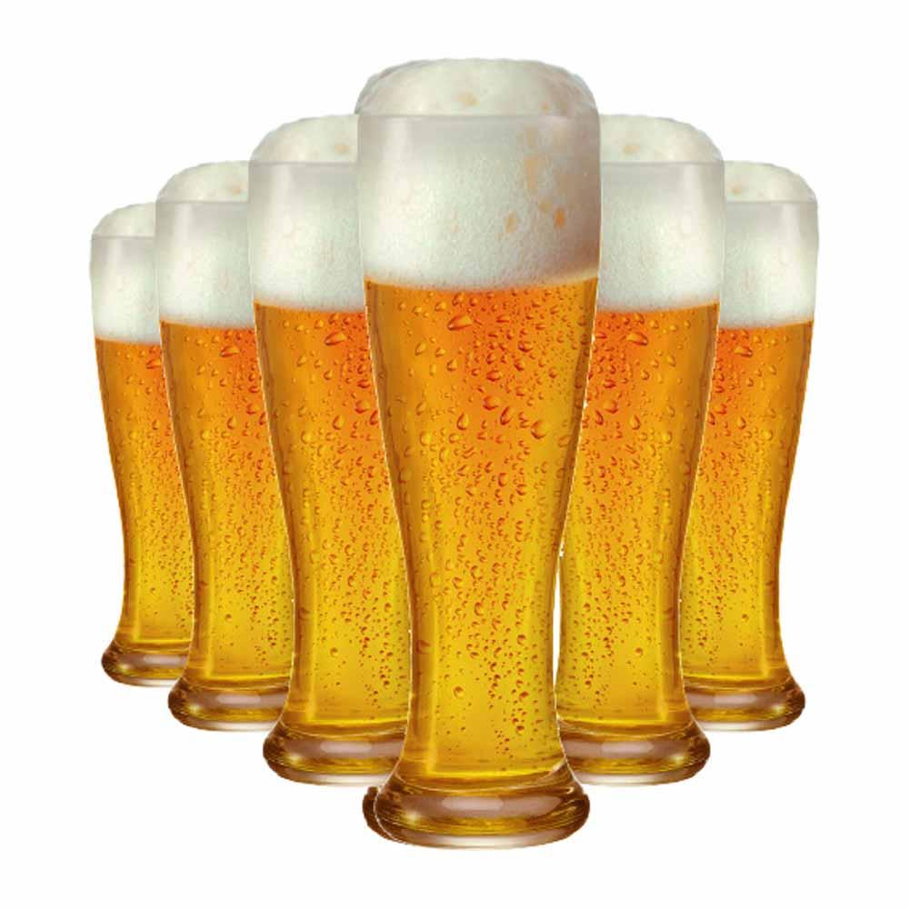 Jogo Copos Cerveja Weiss Linderhof Torcido Vidro 665ml 6 Pcs